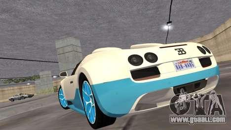Bugatti Veyron Grand Sport Vitesse for GTA Vice City right view
