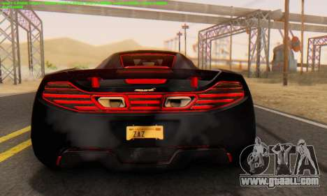 Mclaren MP4-12C Spider Sonic Blum for GTA San Andreas right view