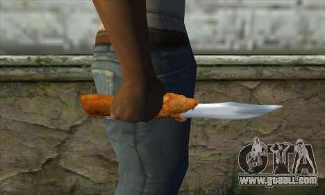 Collectible knife for GTA San Andreas third screenshot