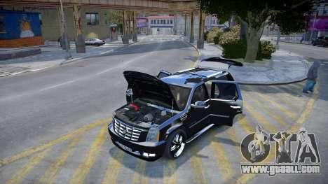 Cadillac Escalade for GTA 4 back view