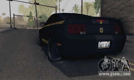 Ford Mustang Shelby Terlingua 2008 NFS Edition for GTA San Andreas left view