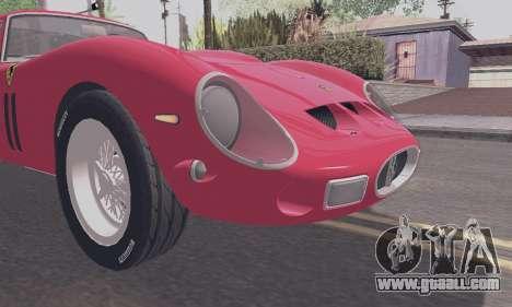 Ferrari 250 GTO 1962 for GTA San Andreas back view