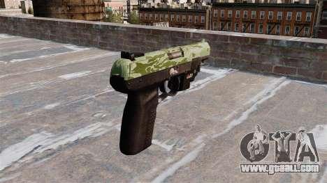 Gun FN Five seveN LAM Green Camo for GTA 4 second screenshot