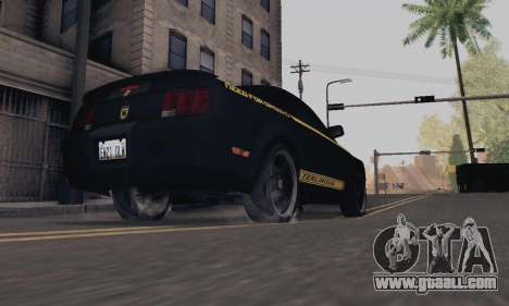 Ford Mustang Shelby Terlingua 2008 NFS Edition for GTA San Andreas back view