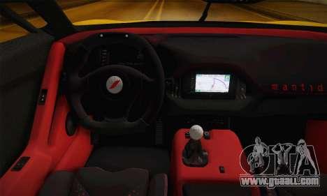 Bertone Mantide World Brasil 2010 for GTA San Andreas back view