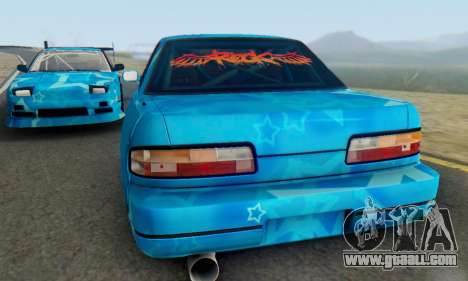 Nissan Silvia S13 Blue Star for GTA San Andreas inner view