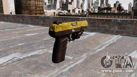 Gun FN Five seveN Gold LAM for GTA 4 second screenshot