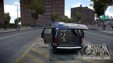 Cadillac Escalade for GTA 4 inner view