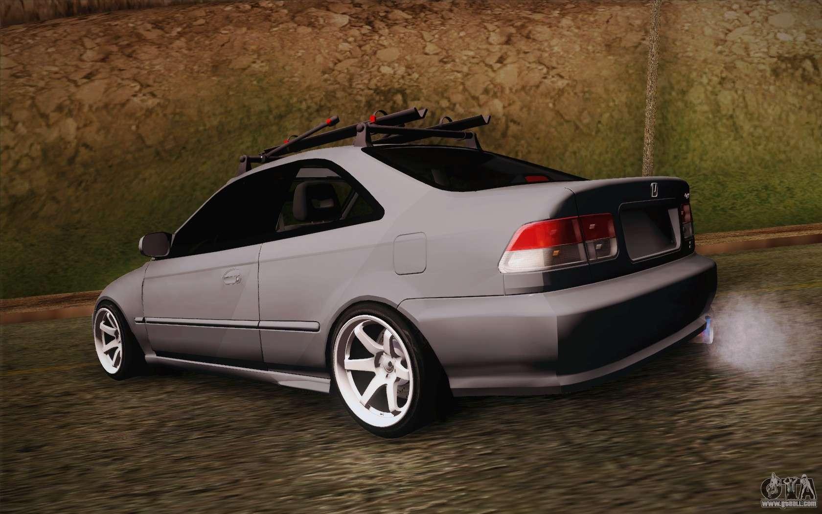 10 Passenger Vehicles >> Honda Civic 1999 for GTA San Andreas