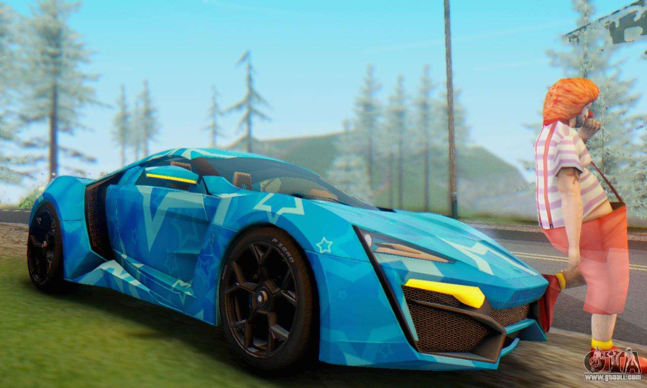 W Motors Lykan Hypersport 2013 Blue Star For Gta San Andreas