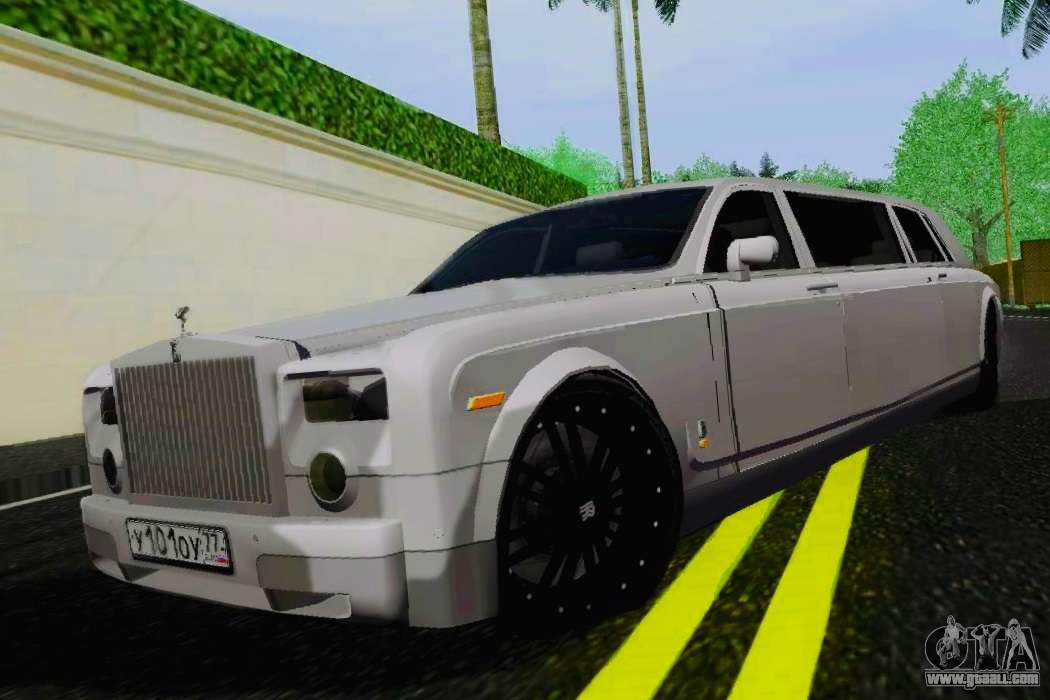 Rolls Royce Limo >> Rolls Royce Phantom Limo For Gta San Andreas