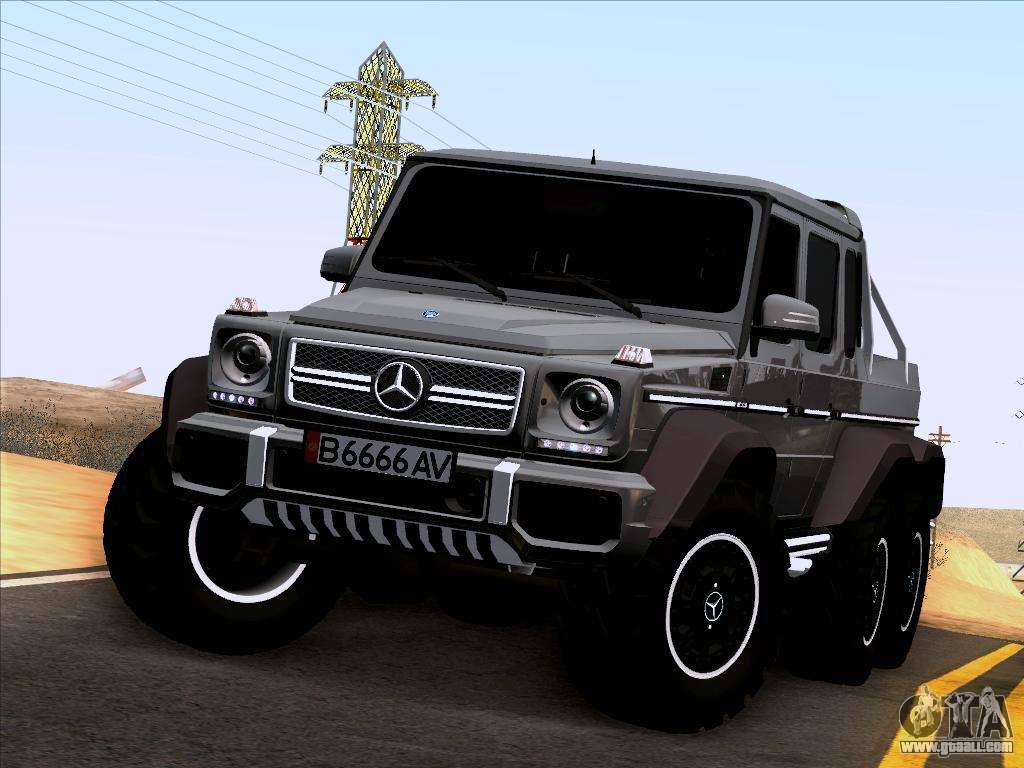 Mercedes benz g65 amg 6x6 for gta san andreas for Mercedes benz amg 6x6