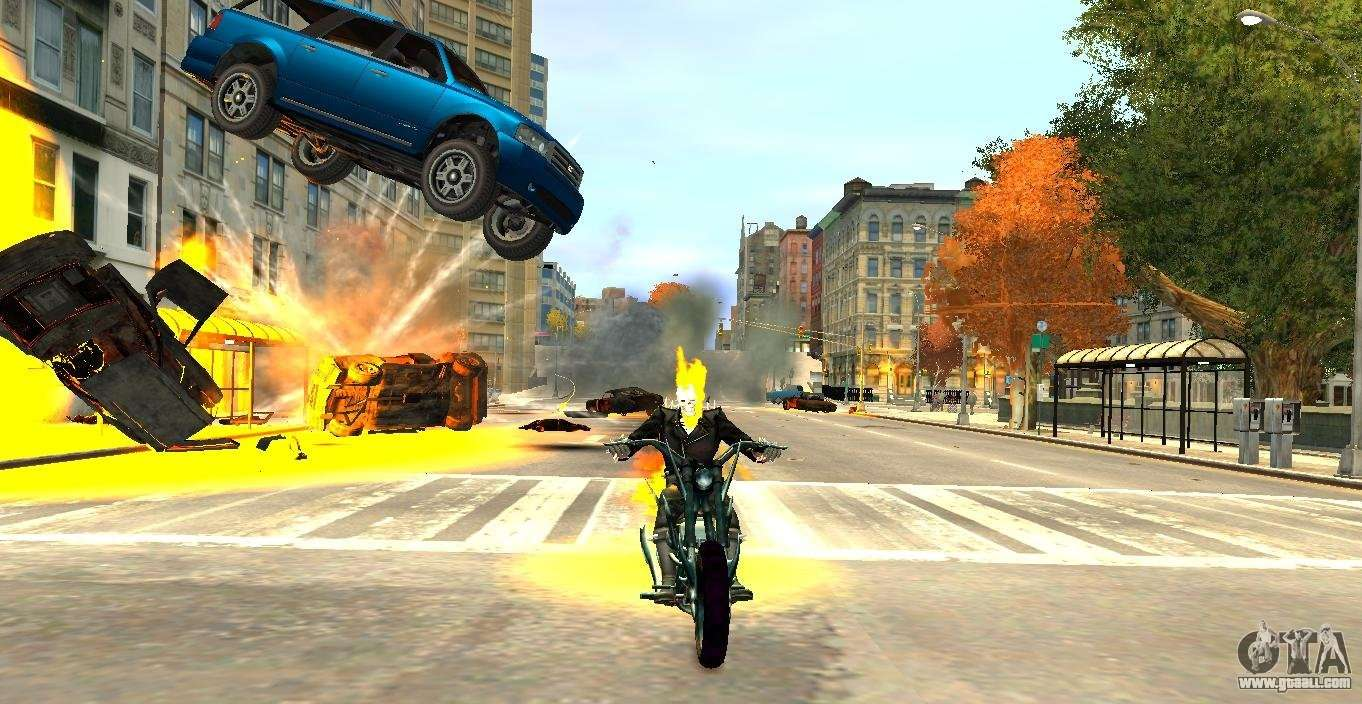 Ghost Rider - scripting mod that turns you into a fiery Ghost handicap