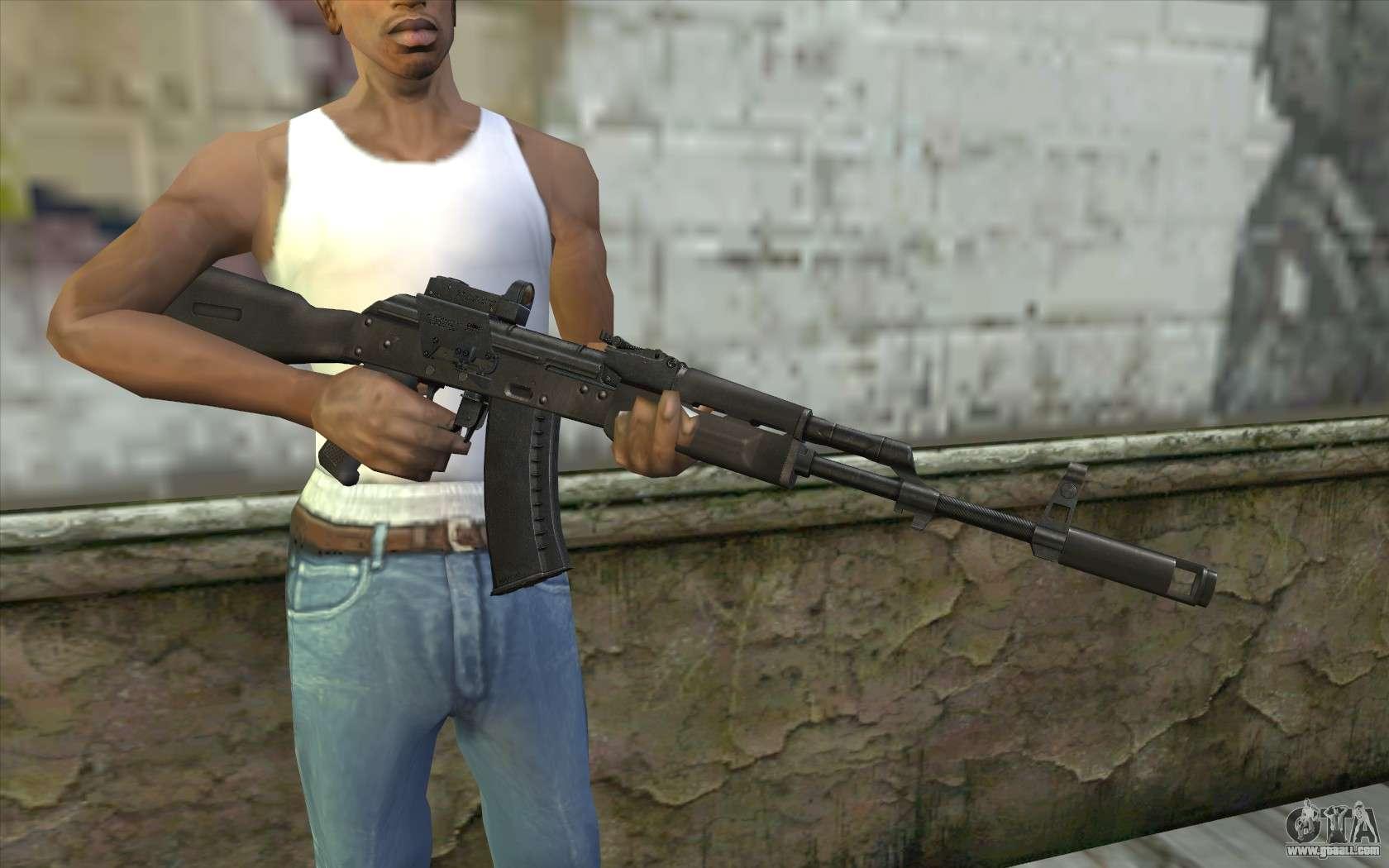 Ak74m: AK74M For GTA San Andreas