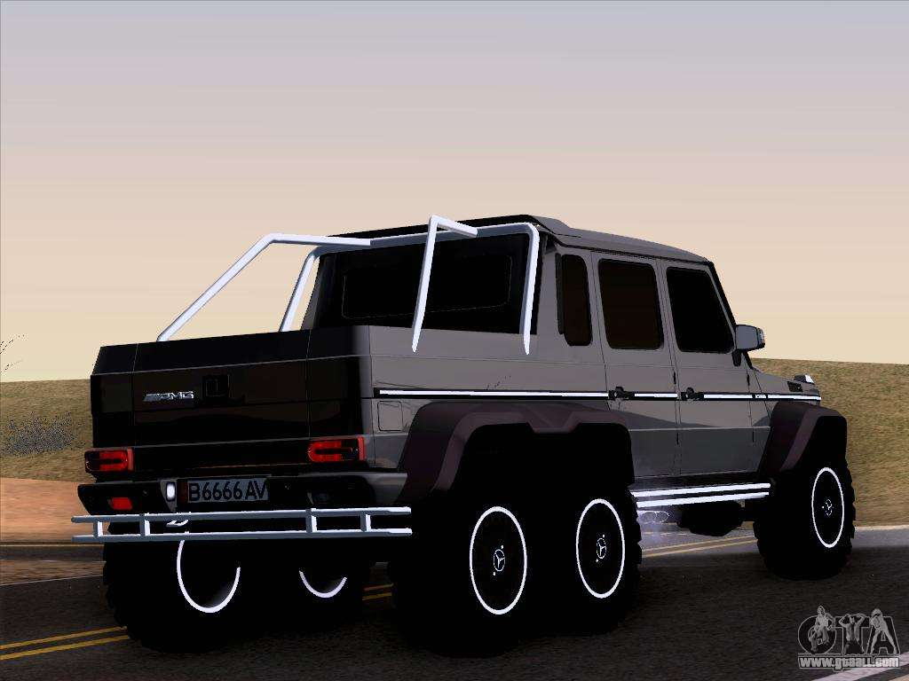Mercedes benz g65 amg 6x6 for gta san andreas for Mercedes benz g65