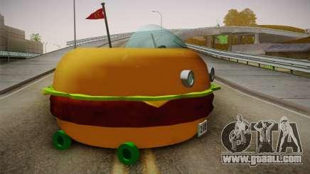 Spongebobs Burger Mobile for GTA San Andreas