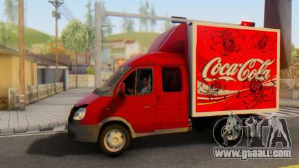 33023 GAZelle Coca-Cola for GTA San Andreas