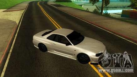Nissan Skyline R34 V-Spec for GTA San Andreas