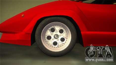 Lamborghini Countach 1988 25th Anniversary for GTA Vice City right view
