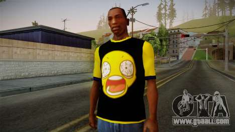 Black & Yellow T-Shirt for GTA San Andreas
