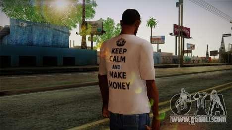 Fler Keep Calm And Make Money Shirt for GTA San Andreas second screenshot