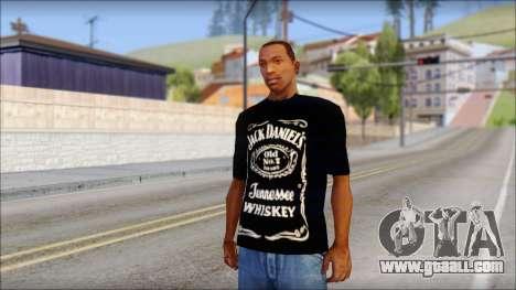 Jack Daniels Fan T-Shirt Black for GTA San Andreas