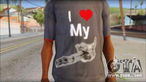 I love my gun T-Shirt for GTA San Andreas third screenshot