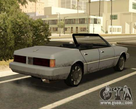 Sentinel Convertible for GTA San Andreas back left view
