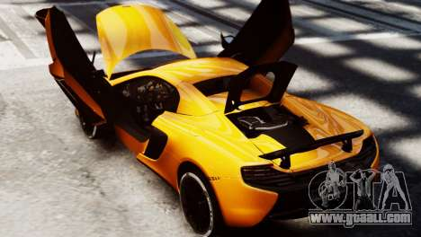 McLaren 650S Spider 2014 for GTA 4 right view
