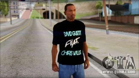 David Guetta Gettin Over T-Shirt for GTA San Andreas