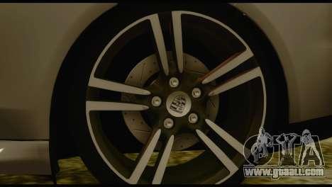 Porsche Panamera GTS for GTA San Andreas back left view