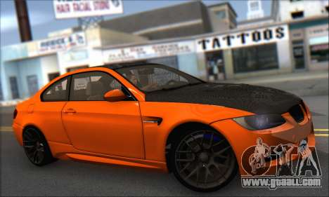BMW M3 E92 Soft Tuning for GTA San Andreas back left view