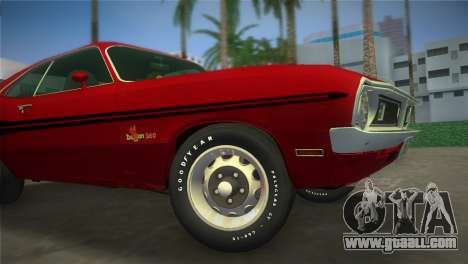 Dodge Dart Demon 340 1971 for GTA Vice City back view