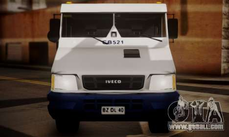 Iveco Daily Brinks for GTA San Andreas back view
