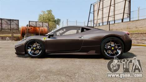 Ferrari 458 Italia Speciale Novitec Rosso for GTA 4 left view