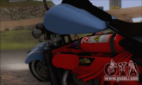 Boss Hoss v8 8200cc for GTA San Andreas back view