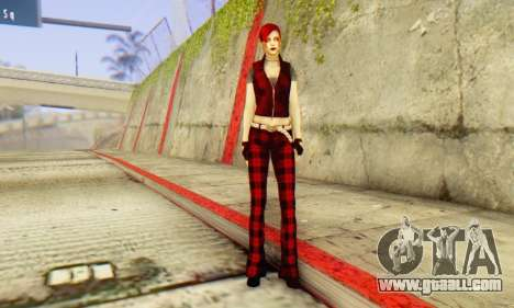 Red Girl Skin for GTA San Andreas forth screenshot