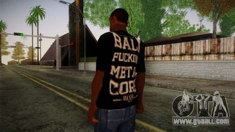 Room 401 T- Shirt for GTA San Andreas second screenshot