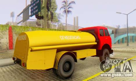 MAZ 500A Bowser for GTA San Andreas back view