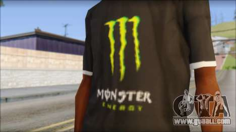 Monster T-Shirt Black for GTA San Andreas third screenshot