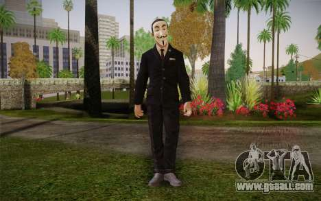 Anonymous Skin for GTA San Andreas