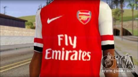 Arsenal 2013 T-Shirt for GTA San Andreas third screenshot