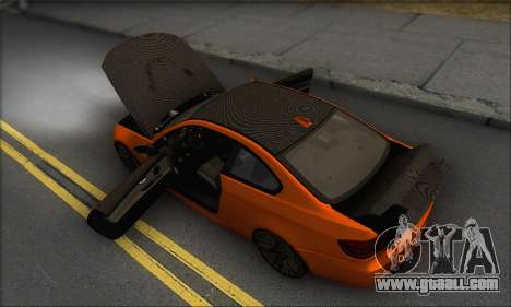 BMW M3 E92 Soft Tuning for GTA San Andreas bottom view
