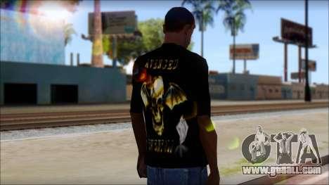 A7X Golden Deathbat Fan T-Shirt for GTA San Andreas second screenshot