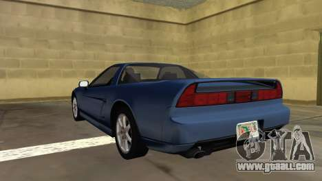 Acura NSX 1991 for GTA Vice City left view