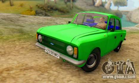 Moskvich 412 [DSA] for GTA San Andreas back left view
