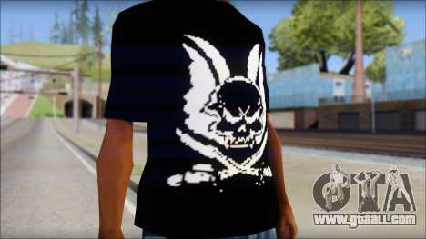 Skull T-Shirt Black for GTA San Andreas third screenshot