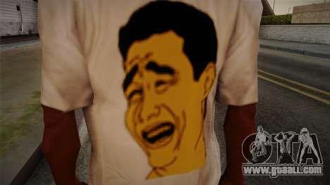 Yao Ming T-Shirt for GTA San Andreas third screenshot