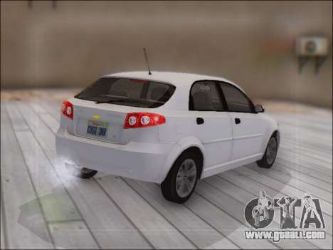 Chevrolet Lacetti for GTA San Andreas back view