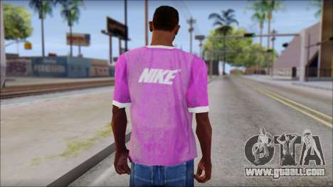 NIKE Pink T-Shirt for GTA San Andreas second screenshot